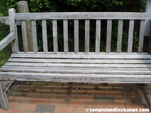 Amityville Historical Bench