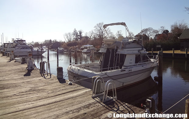 "There is also a southern portion of the Amityville area called ""Amity Harbor"", which is home to canals, a small boating community and higher home prices; actually located in the hamlet of Copiague."