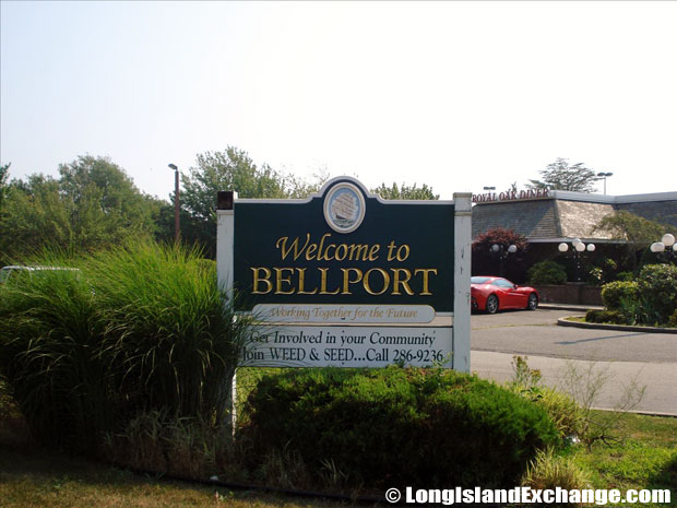 Bellport Welcome Sign
