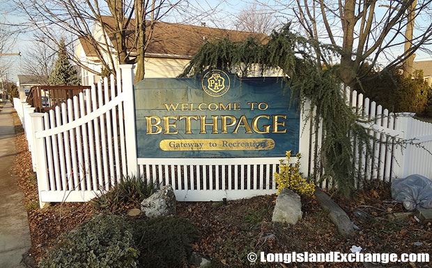 Bethpage Sign and Landscape