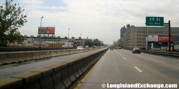 Brooklyn Queens Expressway Westbound Approaching 34th Street Exit, Greenwood Brooklyn