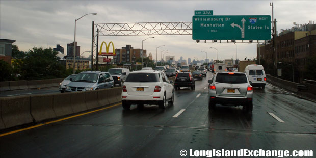 Brooklyn Queens Expressway Westbound at Williamsburg Bridge Exit, Williamsburg Brooklyn