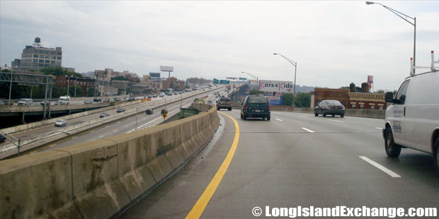 Brooklyn Queens Expressway, Westbound from Hugh L Carey Tunnel, Carroll Gardens Brooklyn