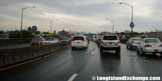Brooklyn Queens Expressway Westbound from Morgan Avenue, Greenpoint Brooklyn