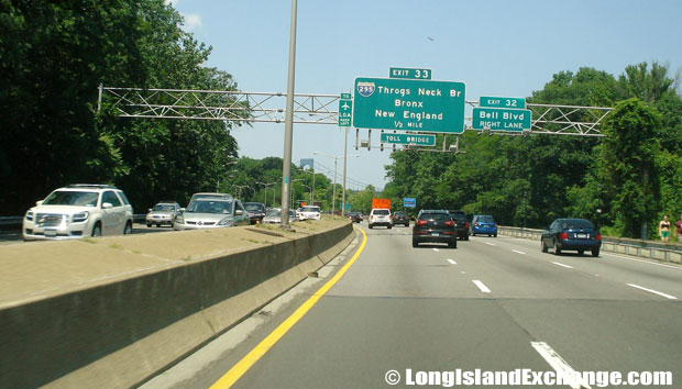 Cross Island Parkway Northbound at Bell Boulevard, Clearview