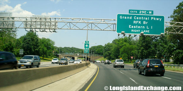 Cross Island Parkway Northbound at Grand Central Parkway, Oakland Gardens