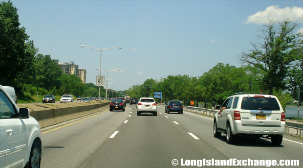 Cross Island Parkway Northbound by Little Neck Bay, Bayside