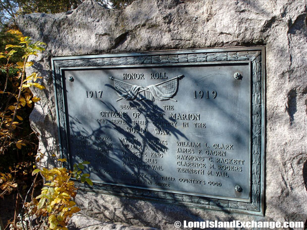 East Marion World War Dedication
