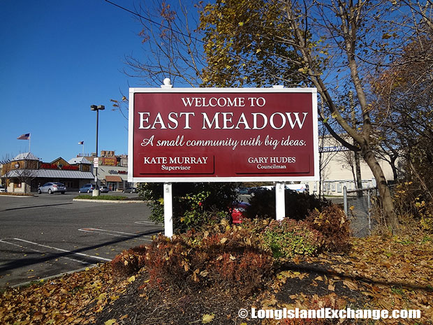 East Meadow Welcome Sign