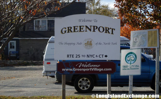 Greenport Welcome Sign