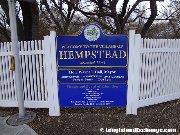 Village of Hempstead Sign