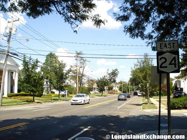 Hempstead Turnpike Eastbound from Fulton Street, Farmingdale