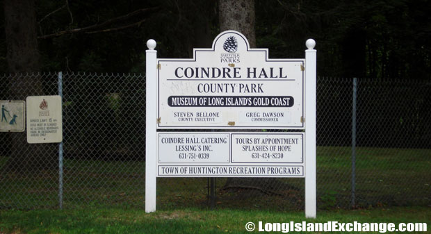 Huntington Coindre Hall Sign