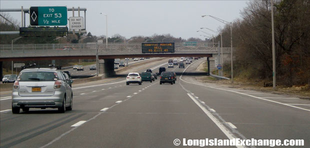 Long Island Expressway heading West at exit 55 Exit