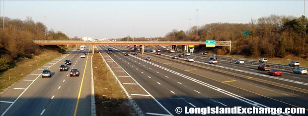 Long Island Expressway looking East from Sagtikos Parkway Bridge