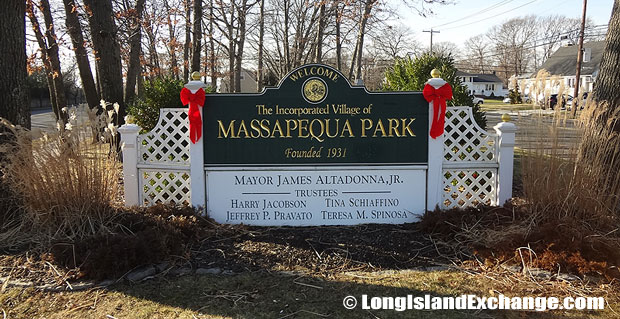 Massapequa Park is an incorporated village located in Nassau County, on the South Shore of Long Island, New York. It is in the south part of the Town of Oyster Bay. Massapequa Park is on Great South Bay and Bar Harbor.