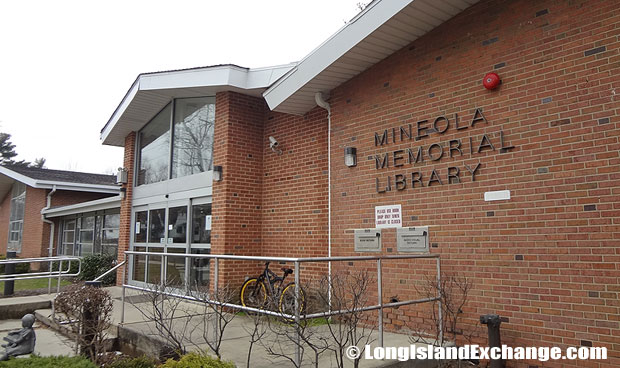 The Mineola Public Library has a major source of reference with over 1,000 new books and a brightly reading area that is enhanced by soaring ceilings, and surrounded by glass windows with views of Memorial Park.