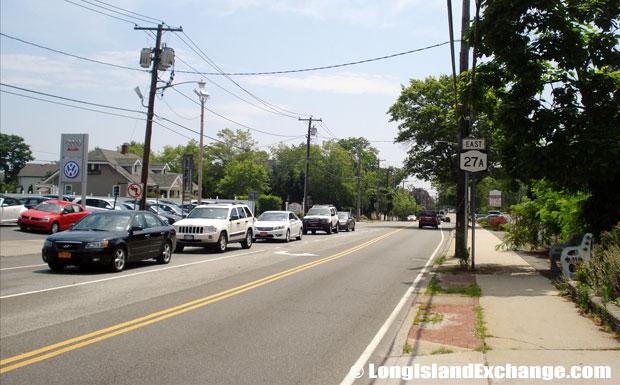 Montauk Highway Eastbound from Broadway, Amityville