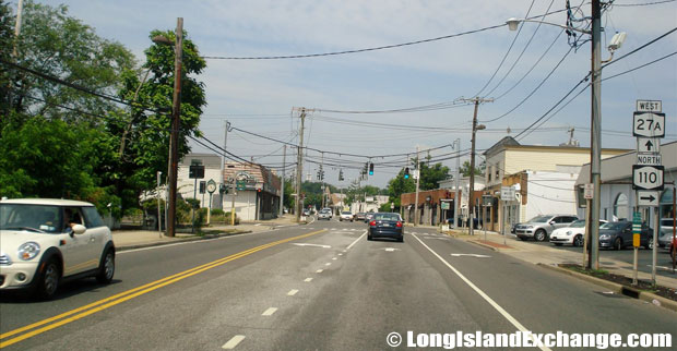 Montauk Highway Westbound towards Route 110, Amityville