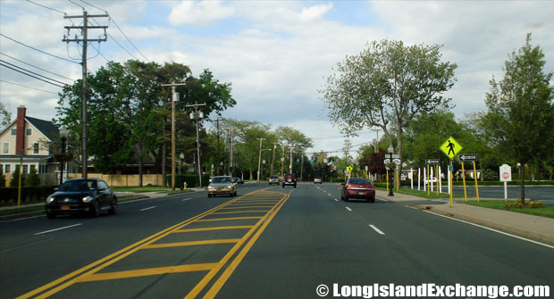 Montauk Highway Eastbound at Route 109 Intersection Babylon