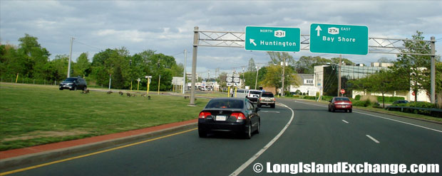 Montauk Highway Eastbound at Route 231, West Islip