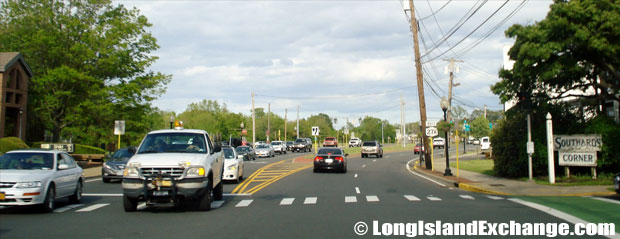Montauk Highway Eastbound from Deer Park Avenue, Babylon