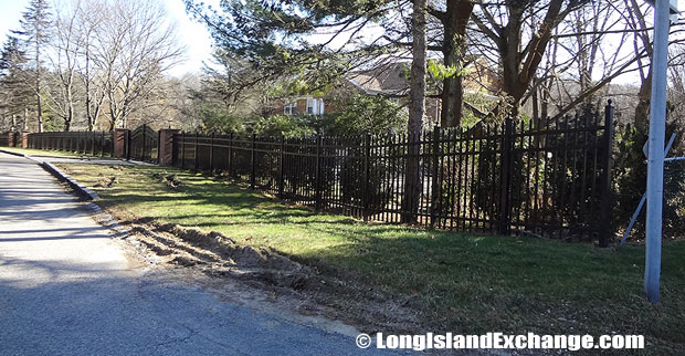 Fence Lined Street in Muttontown