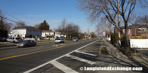 Roadway in North Bellmore