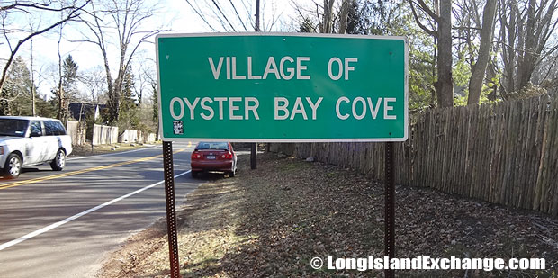 Oyster Bay Cove Sign