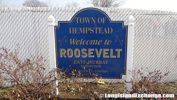 Roosevelt is a hamlet and census-designated place located in Nassau County, Long Island, New York. It is within the Town of Hempstead.