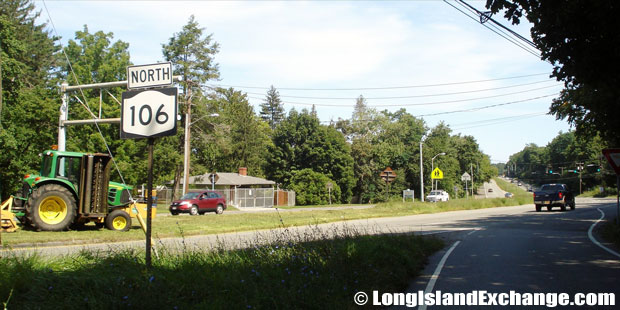 Route 106 Newbridge Road Northbound at Robbins Lane, Syosset