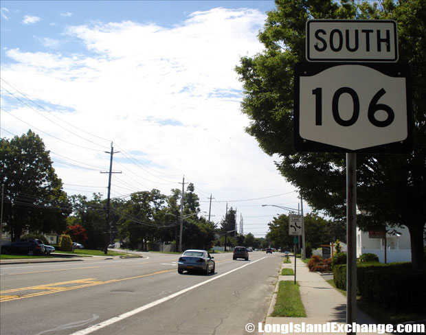 Route 106 Newbridge Road Southbound from Meadow Avenue, North Bellmore