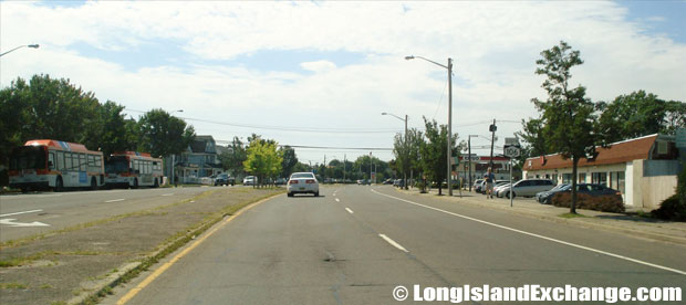 Route 106 Newbridge Road Southbound from Stewart Avenue, Levittown