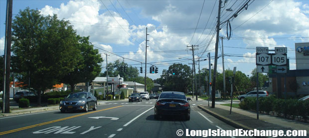 Hicksville Road Route 107 Southbound at Jerusalem Avenue, North Wantagh