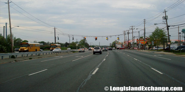 Route 110 Northbound from Conklin Street, Farmingdale