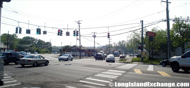 Route 112 Northbound at Middle Country Road Intersection, Coram