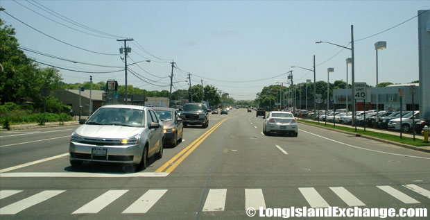 Route 112 Southbound at Woodside Avenue, North Patchogue