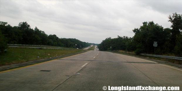 Route 231 Northbound from Montauk Highway, West Islip