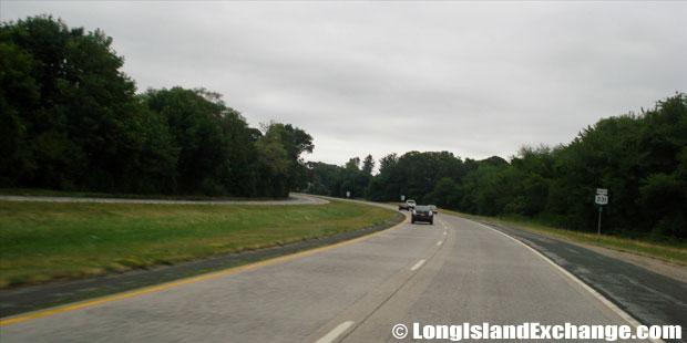 Route 231 Northbound from Sunrise Highway, North Babylon