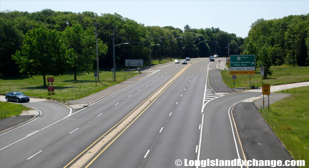 Route 25A Eastbound from Sunken Meadow Parkway, Kings Park