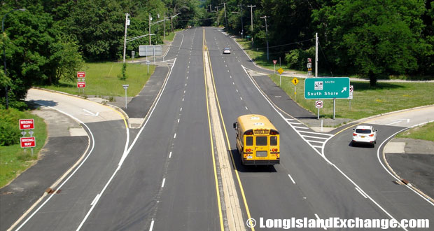 Route 25A WB from Sunken Meadow Parkway, Fort Salonga