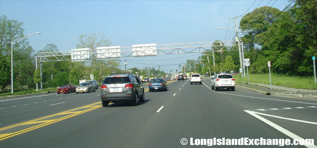 Route 25 Eastbound East of Nicolls Road, Centereach
