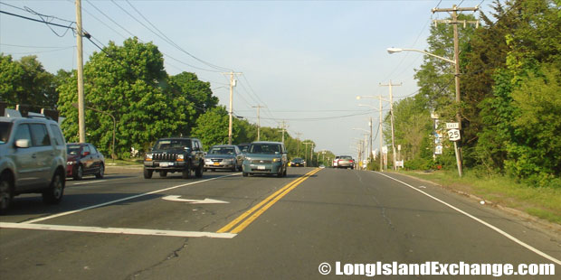 Route 25 Eastbound East of Yaphank-Middle Island Road, Middle Island