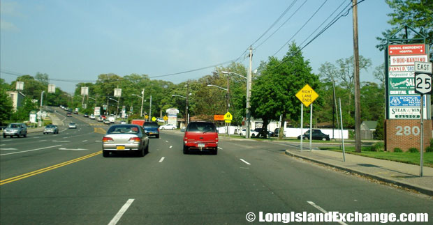 Route 25 Eastbound West of Patchogue-Mount Sinai Road, Selden