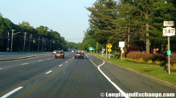 Route 347 Eastbound from Northern Parkway, Commack