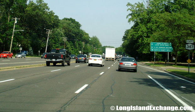 Route 347 Eastbound from Old Willets Path, Hauppauge