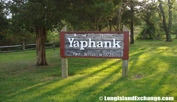 Yaphank Welcome Sign