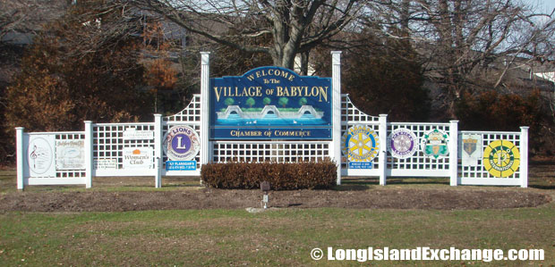 It is referred to as Babylon Village and a part from the Town of Babylon.