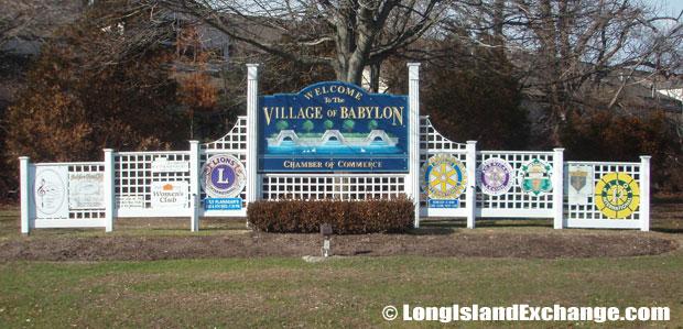 Village Of Babylon Sign