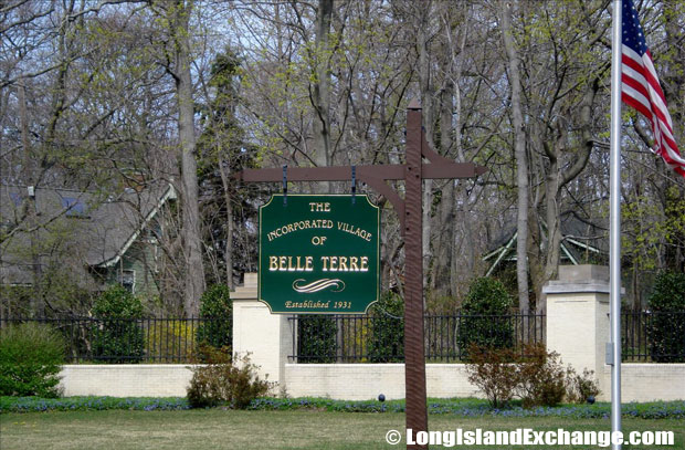Belle Terre Incorporated Village Sign